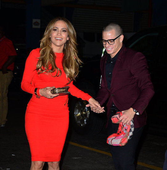 J Lo and Casper Get Red Hot For Her Birthday Party