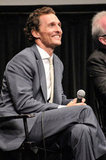 Matthew McConaughey spoke at the Killer Joe screening in NYC.