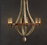 This Outdoor Wine Barrel Chandelier ($1,995) is the perfect finishing touch for an outdoor fireplace patio.