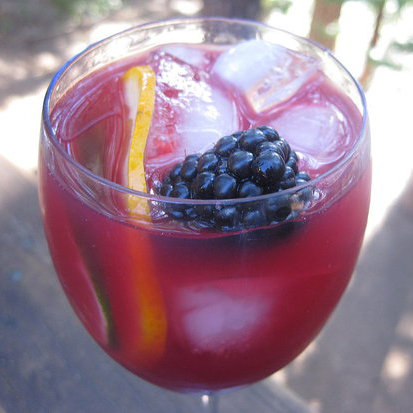Blackberry and Cabernet Caipirinha