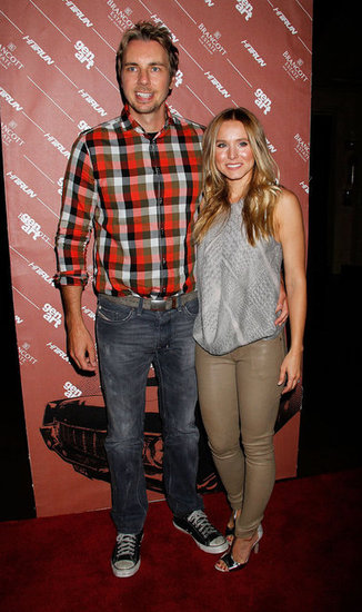 Dax Shepard had his arm around Kristen Bell at the Hit and Run screening in NYC.