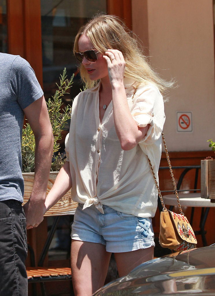 Kate Bosworth headed back to her car.