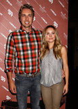 Dax Shepard and Kristen Bell posed together for photos at the Hit and Run screening in NYC.