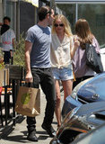 Kate Bosworth and Michael Polish stopped to pick up lunch at M Cafe.