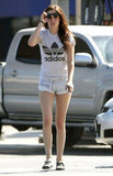 Kristen Stewart wearing short shorts in LA.
