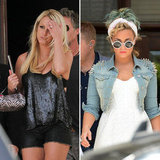 Britney and Demi Put X Factor Hopefuls Through Boot Camp