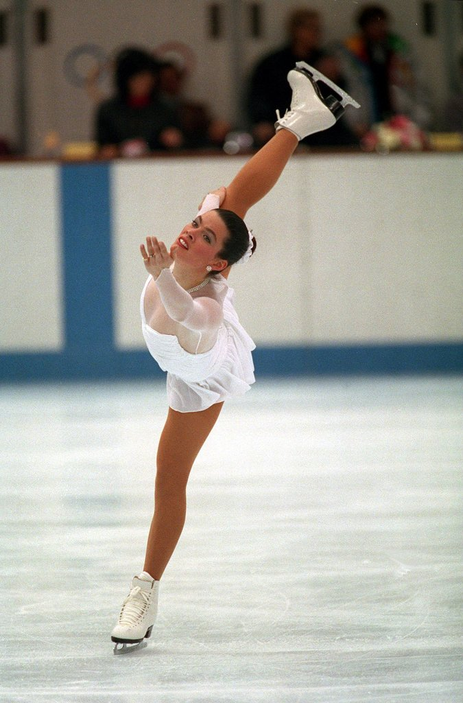Nancy Kerrigan at the 1992 Olympics