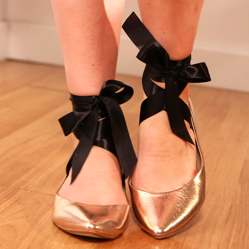 DIY Ballet Flats: Watch Our Easy How-To Video On Adding Ribbons to your Ballet Flat Shoes