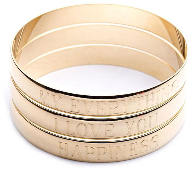 Danielle Stevens Jewelry Single Engraved Bangle ($70)