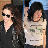 Kristen Stewart went the whole way to play Joan Jett in The Runaways. Her black mullet-style was very different from her signature, long brunette locks.