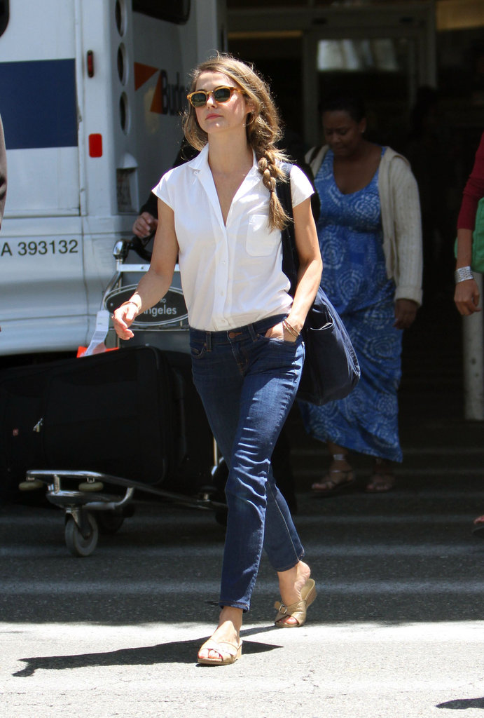 Keri Russell Shows Off Her Effortless Postflight Style