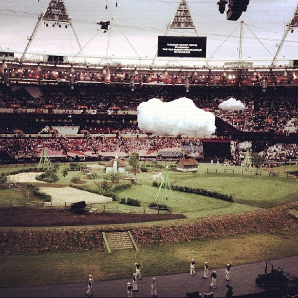 Stella McCartney documented the preceremonies activity inside Olympic Stadium. Source: Instagram User stella_mccartney
