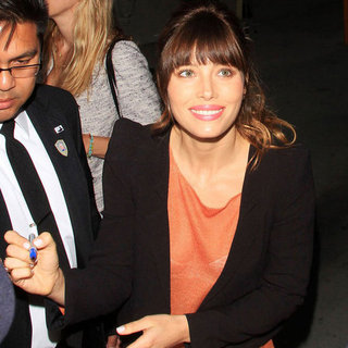 Jessica Biel at Jimmy Kimmel
