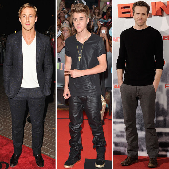 Ryan Gosling, Justin Bieber and Ryan Reynolds
