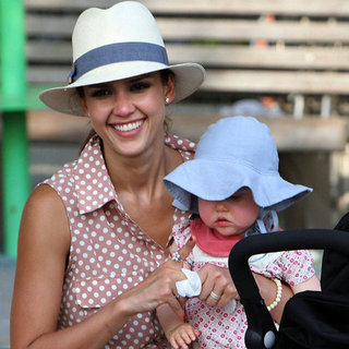 Jessica Alba Pictures with Honor and Haven at NYC Park
