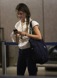 Keri Russell was on her phone at LAX.