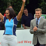 David Beckham Prepares For Olympics With Michelle Obama
