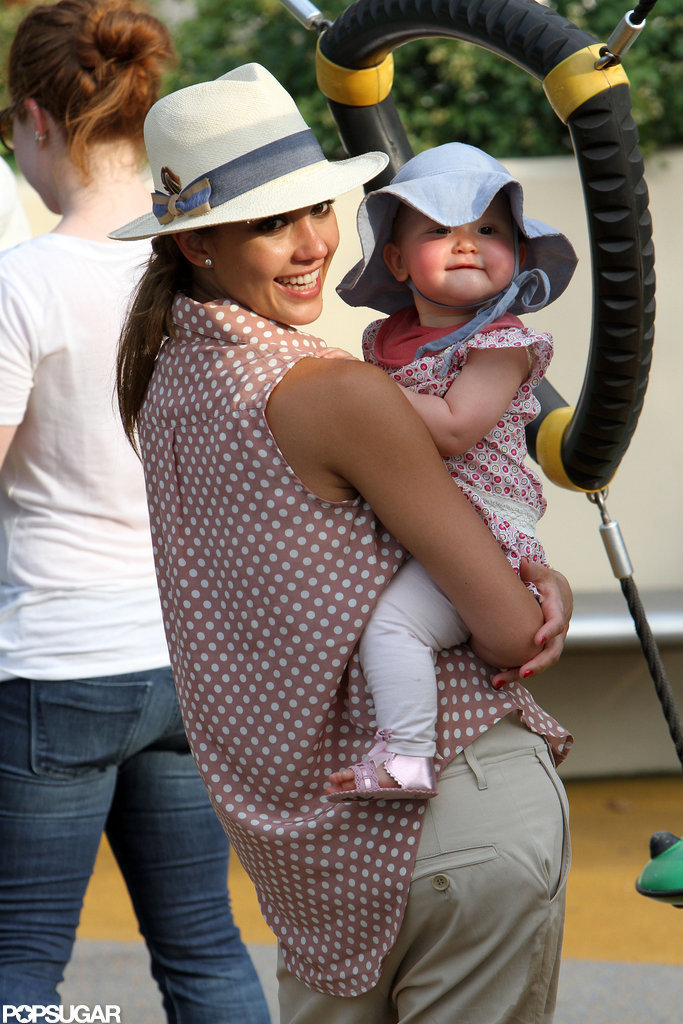 Jessica Alba had Haven on her hip for a playdate in NYC.