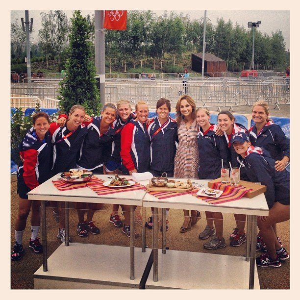 The USA field hockey team visited Today's London set and posed for a photo with celebrity chef Giada De Laurentiis. Source: Instagram user todayshow