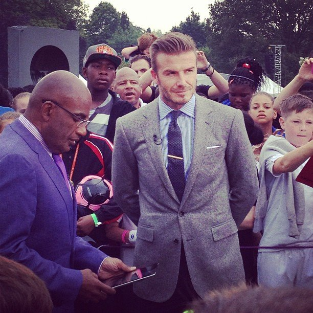 Catt Sadler shared a photo of Al Roker chatting with David Beckham. Source: Instagram user iamcattsadler