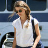 Keri Russell With a Braid at LAX
