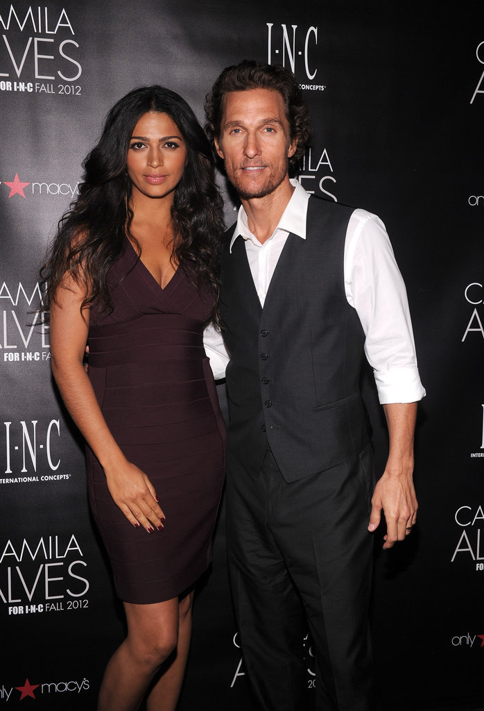 Camila Alves and Matthew McConaughey posed together at her event in NYC.