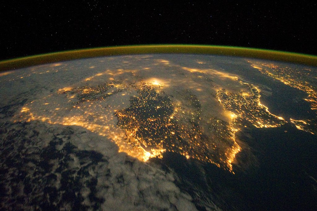 Barcelona, Spain, is full of lights — and near Portugal.