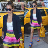 We're loving Jessica Alba's striped skirt so much that we hunted it down.