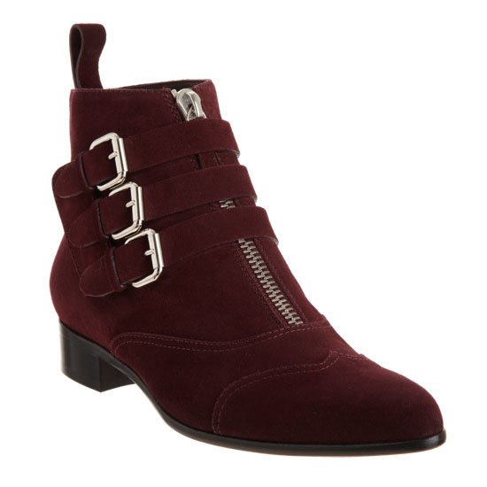 Deep Merlot-hued, buckle-infused, zipper-laden, and a plush finish to match? Yes, this Tabitha Simmons boot is Fall perfect. Tabitha Simmons Early Boot ($1,195)