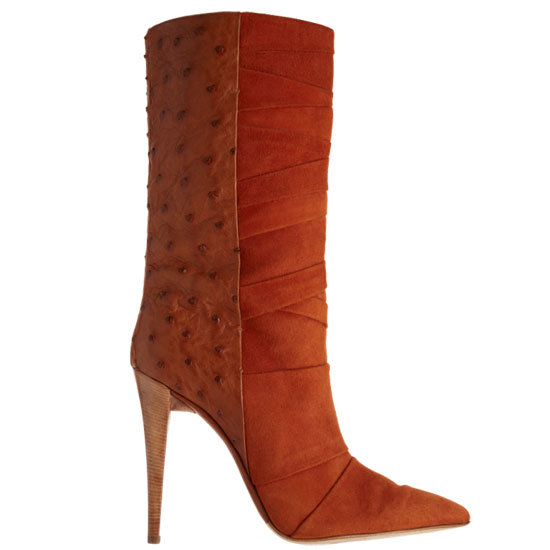 We're finally getting to reap the benefits of Narciso Rodriguez's inaugural shoe collection, and this ultraluxe ostrich-textured boot — in a rich orange hue, no less — is a serious Autumnal accessory. Narciso Rodriguez Ostrich Combo Boot ($2,195)