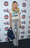 Dree Hemingway was dressed-down cool in high-waisted bell-bottoms and a palm-print tee at the Campaign screening in NYC.