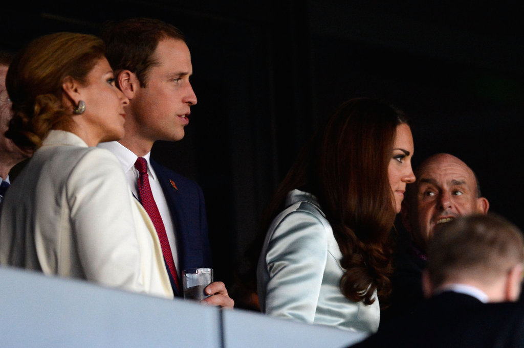 Prince William and Kate Middleton arrived at the opening ceremony.