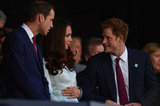 Prince William and Prince Harry flanked Kate Middleton during the ceremony.