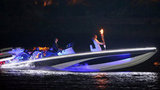 David Beckham drove the speedboat that carried the Olympic torch.