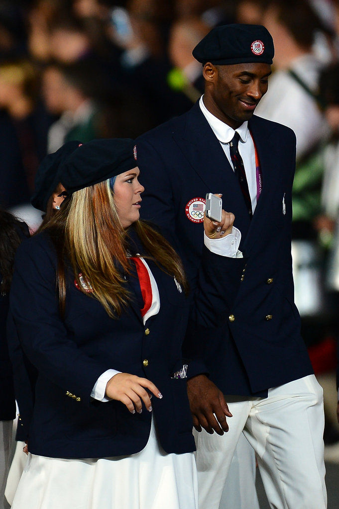 Kobe Bryant walked with Team USA.