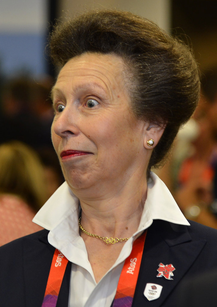 Princess Anne made a face during the Opening Ceremony.