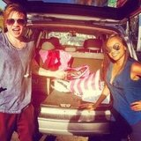 Reece Mastin and Jessica Mauboy went on a road trip. Source: Instagram user reecemastinofficial