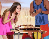 Selena Gomez was given surprise birthday cupcakes at the Teen Choice Awards on July 22.