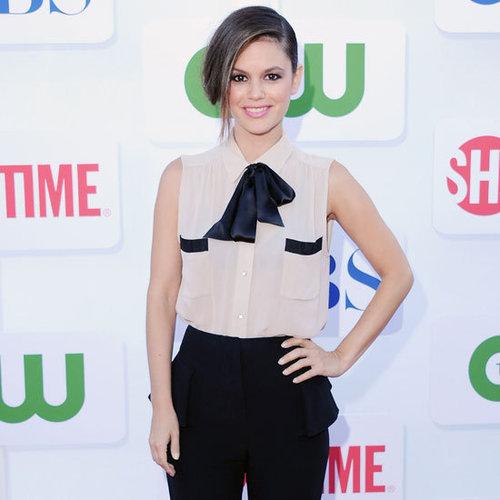 Rachel Bilson Wearing Sleeveless Tie Bow Top