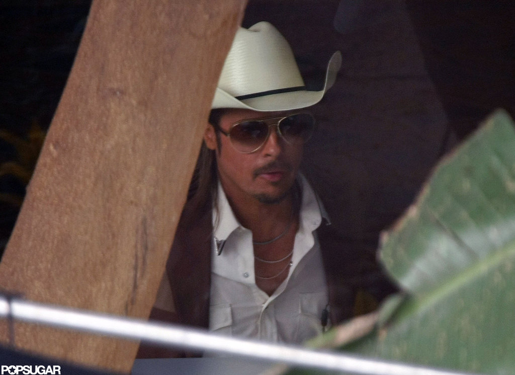 Brad Pitt in costume for The Counselor.