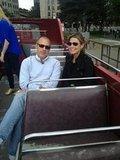 Matt Lauer and Savannah Guthrie toured London on a double decker bus.  Source: Twitter user todayshow