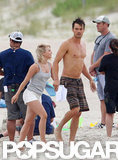 Josh Duhamel and Julianne Hough shot Safe Haven on the beach.