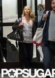 Claire Danes walked through the airport at LAX.