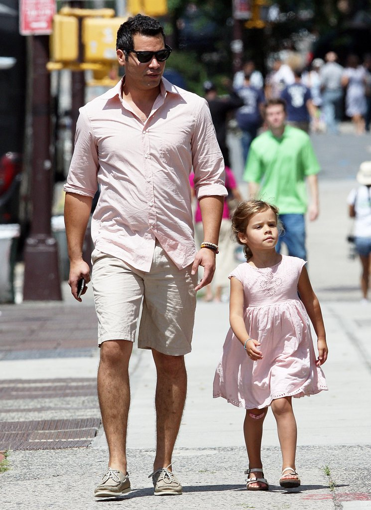 Cash Warren and Honor Warren went for a walk in NYC Sunday.