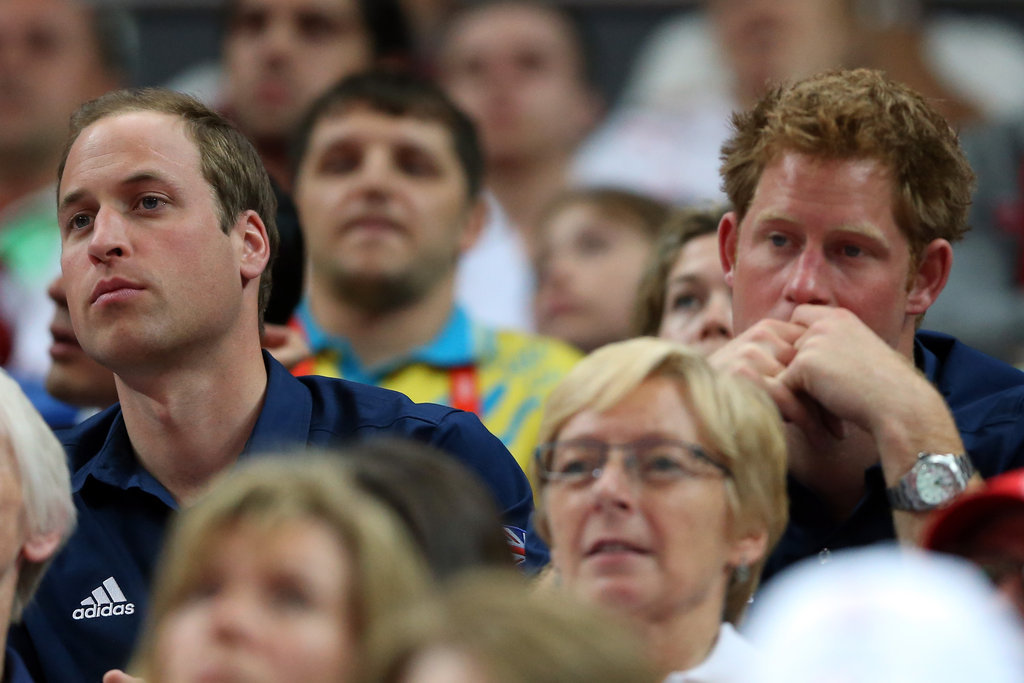 The princes took in men's artistic gymnastics.