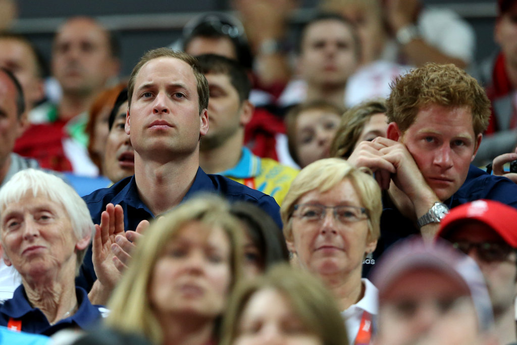 After cheering on Zara, Prince William and Prince Harry watched the artistic gymnastics men's team final at the London 2012 Olympic Games.