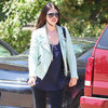 Michelle Trachtenberg Wearing Mint Studded Jacket