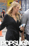 Blake Lively carried a water bottle on set.
