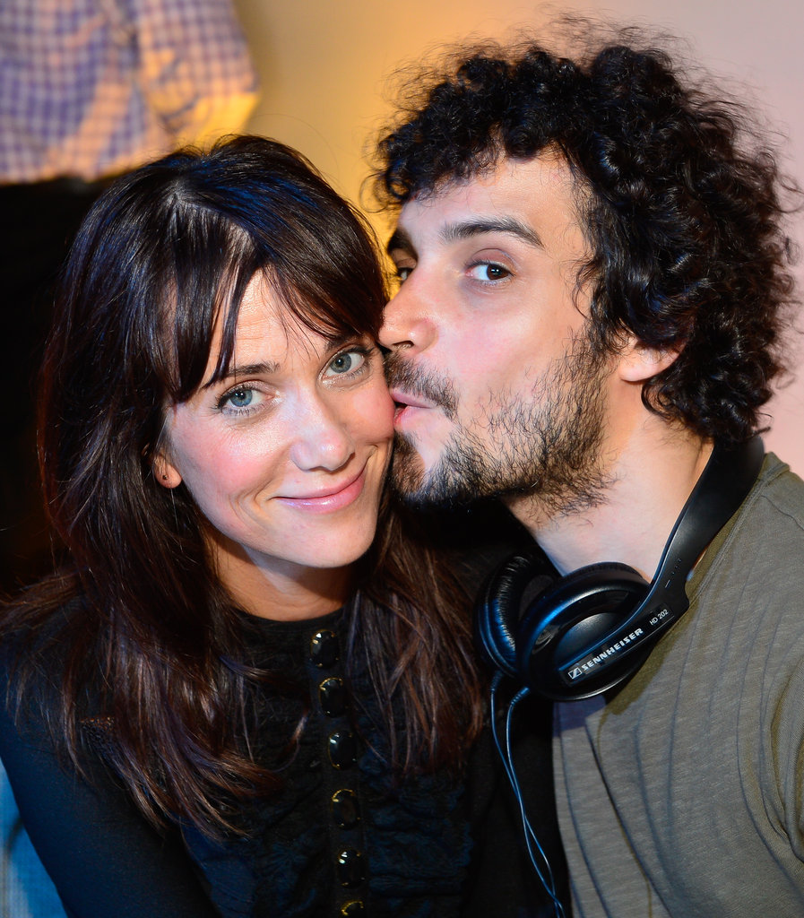 Kristen Wiig and Fabrizio Moretti displayed cute affection at the Lexus Laws of Attraction art exhibit.