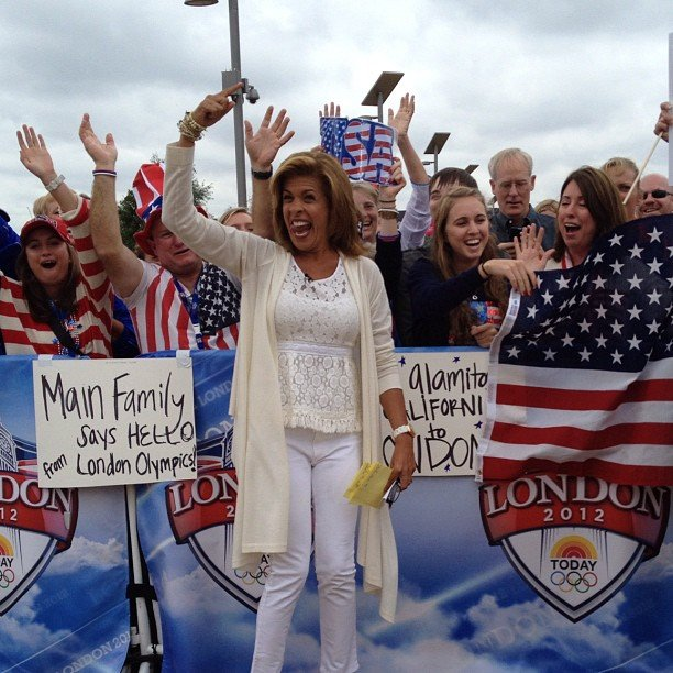Hoda Kotb got a warm welcome in London. Source: Twitter user todayshow